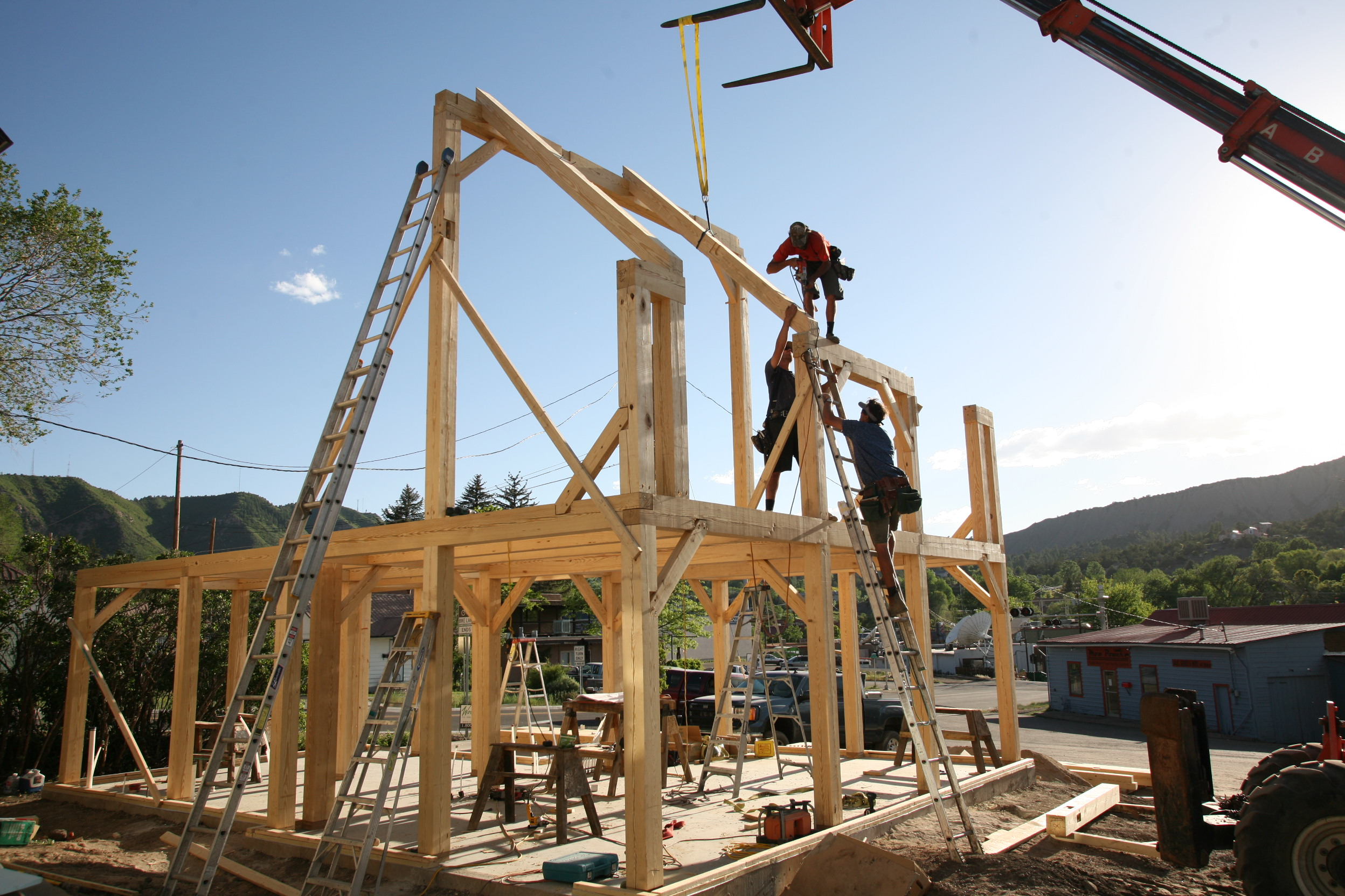 Black Canyon Builders, Durango, CO, timber frame construction