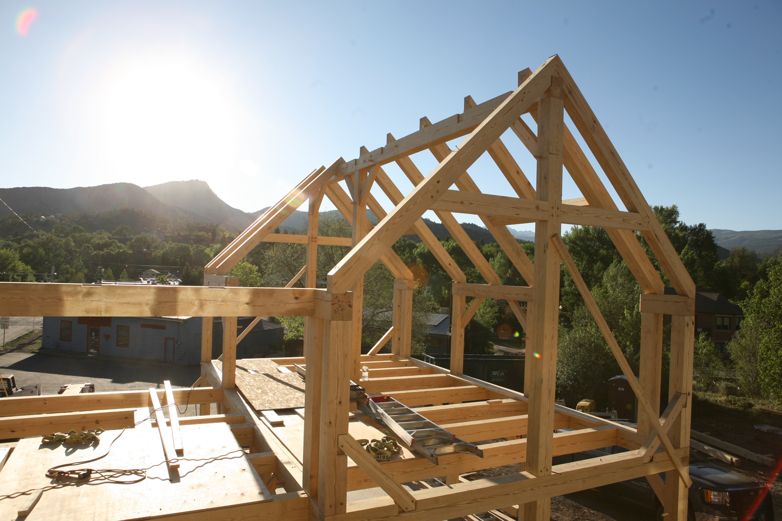 Black Canyon Builders, Durango, CO, timber frame details