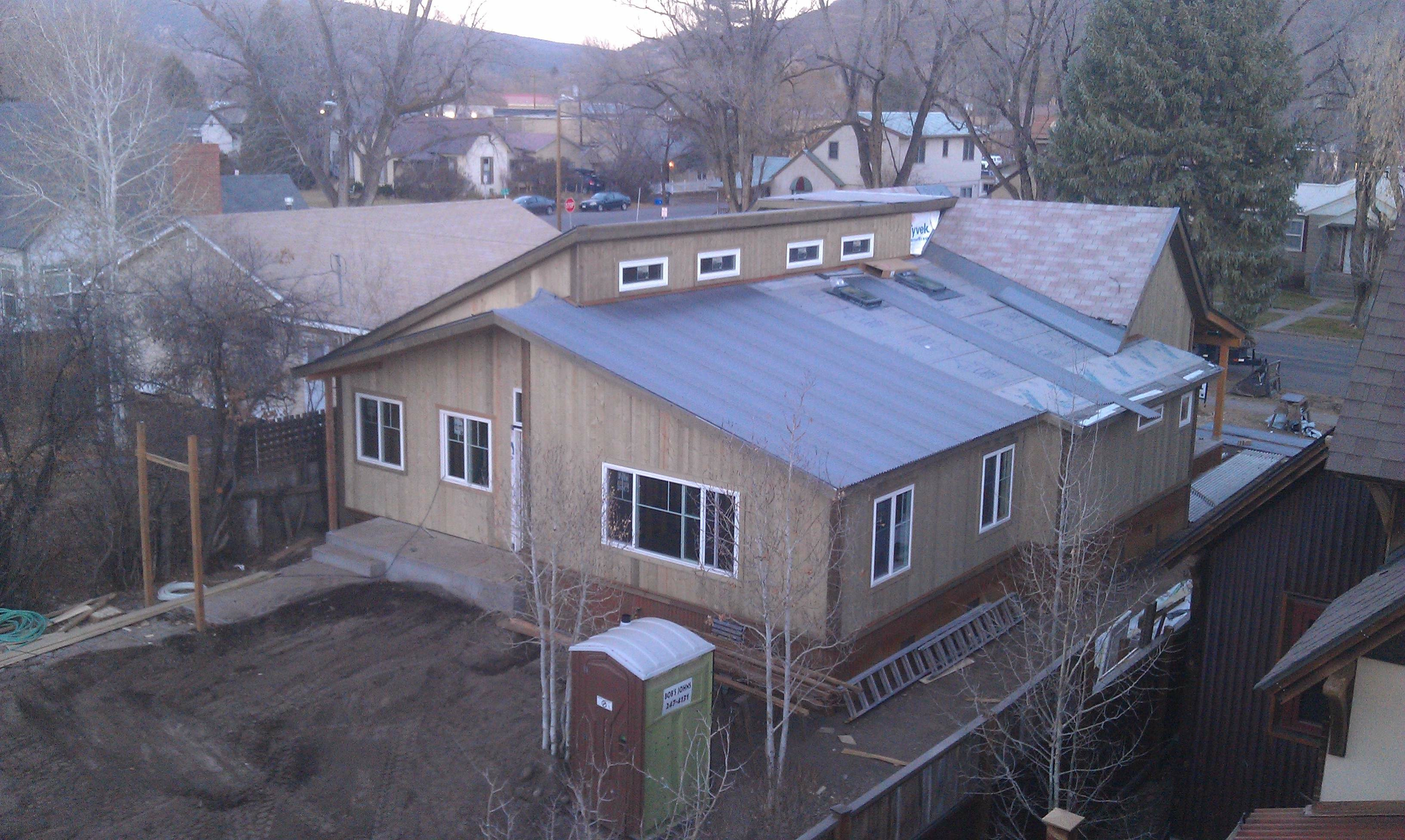 Black Canyon Builders, Durango, CO Significant Remodel Historic Home, roofline after