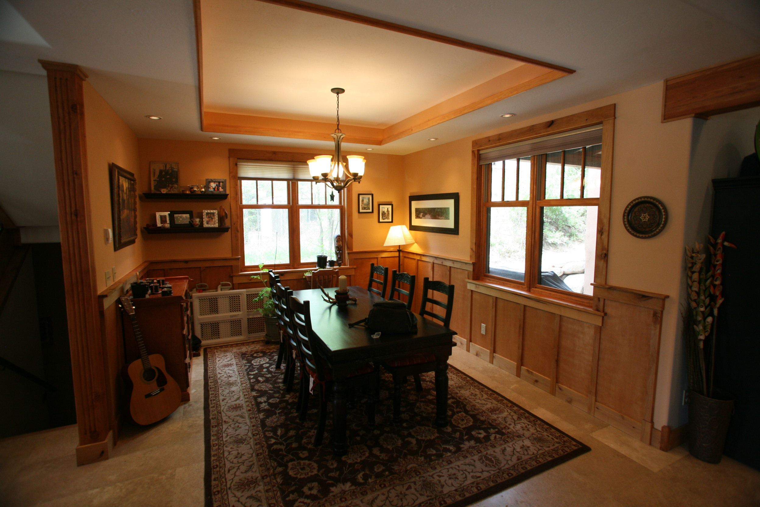 Black Canyon Builders, Durango, CO custom, energy efficient home, dining room